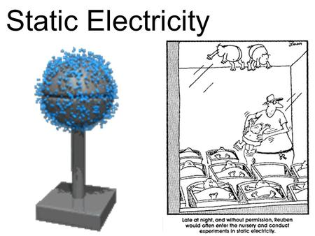 Static Electricity. What is Static Electricity The buildup of electrical charges in one place. Static = charge does not move or flow (usually a temporary.