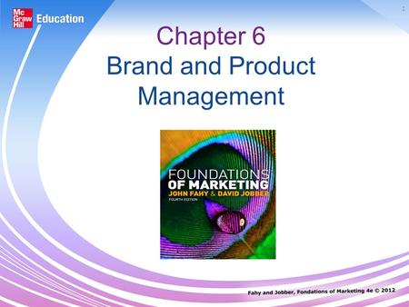1 Chapter 6 Brand and Product Management. 2 Products A product is anything capable of satisfying customers needs. It exists on three levels: Core Actual.