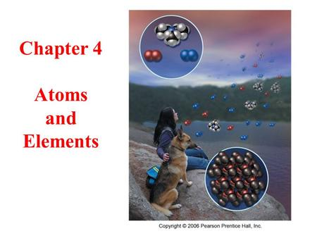 Chapter 4 Atoms and Elements 2 Experiencing Atoms atoms are incredibly small, yet they compose everything atoms are the pieces of elements properties.