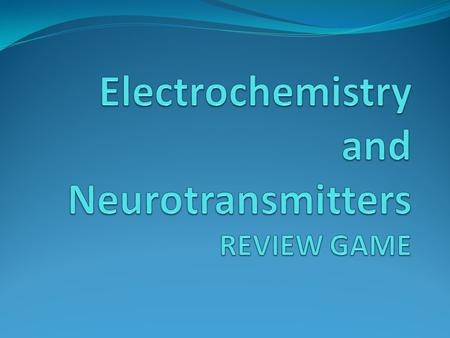 USG Part III: Electrochemistry USG Part III: Electrochemistry See also the NOTES documents posted online at our wikispace, the online self-quizzes posted.