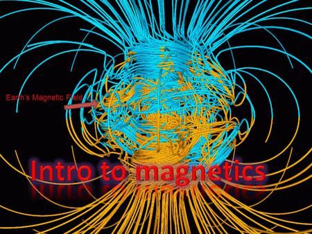 Earth's Magnetic Field Magnetic history A mineral called magnetite was discovered that attracted other pieces of certain metals. They noticed that these.