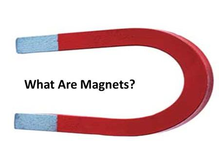 What Are Magnets?. Magnets I want to learn how magnets push or pull objects.