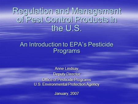An analysis of toxic pesticide regulation in the united states