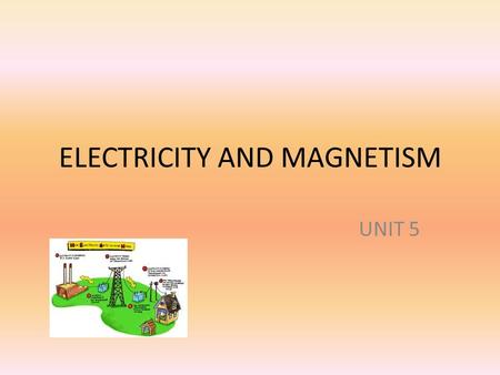 ELECTRICITY AND MAGNETISM UNIT 5. Transporting electricity The energy for generating electricity comes from different sources. The generator transforms.
