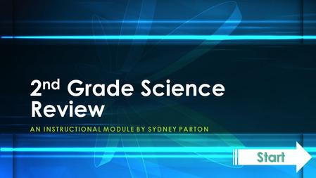 AN INSTRUCTIONAL MODULE BY SYDNEY PARTON 2 nd Grade Science Review.