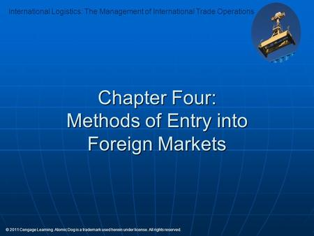 Chapter Four: Methods of Entry into