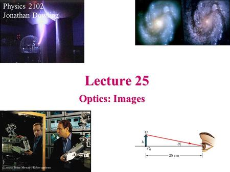 Physics 2102 Jonathan Dowling Lecture 25 Optics: Images.