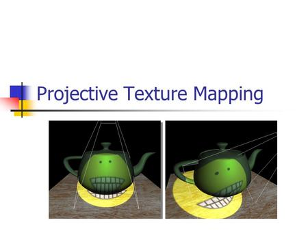 Projective Texture Mapping