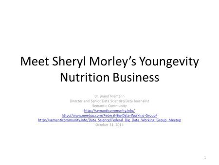Youngevity business presentation