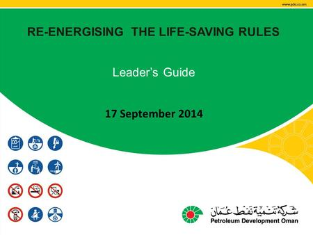 RE-ENERGISING THE LIFE-SAVING RULES