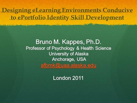 Designing eLearning Environments Conducive to ePortfolio Identity <strong>Skill</strong> Development.