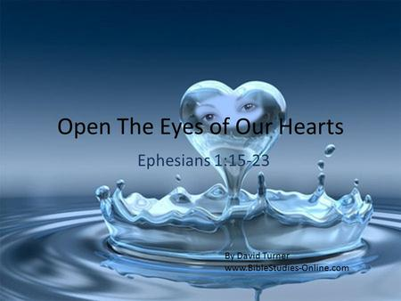 Open The Eyes of Our Hearts