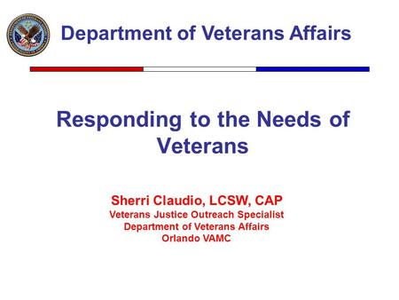 Responding to the Needs of Veterans