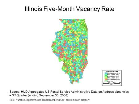 Illinois Five-Month Vacancy Rate Source: HUD Aggregated US Postal Service Administrative Data on Address Vacancies – 3 rd Quarter (ending September 30,