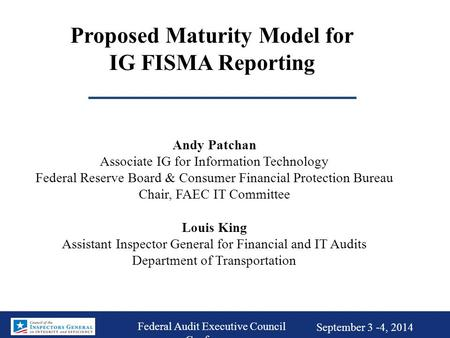 Proposed Maturity Model for