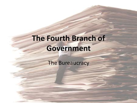 The Fourth Branch of Government