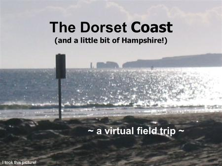 The Dorset Coast (and a little bit of Hampshire!) ~ a virtual field trip ~ I took this picture!