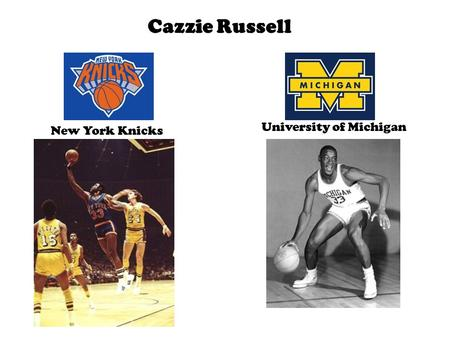 Cazzie Russell New York Knicks University of Michigan.