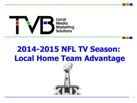 2014-2015 NFL TV Season: Local Home Team Advantage 1.