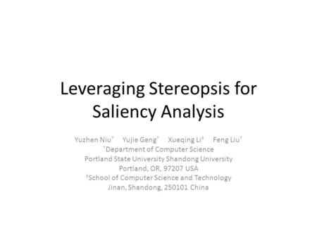 Leveraging Stereopsis for Saliency Analysis