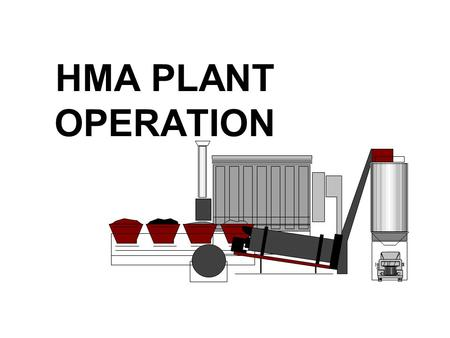 HMA PLANT OPERATION. Types Of Plants BATCHDRUM MIXER.