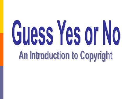 An Introduction to Copyright