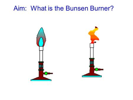 Aim: What is the Bunsen Burner? Introduction The Bunsen burner is used in laboratories to heat things. In order to use it safely and appropriately, it.
