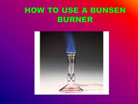 A science apron science goggles Gauze heat proof matt tripod beaker Bunsen burner.