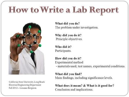 Writing a lab report middle school science