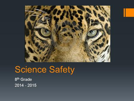 Science Safety 8 th Grade 2014 - 2015. Introduction Science is a hands-on laboratory class. You will be doing many laboratory activities which may require.