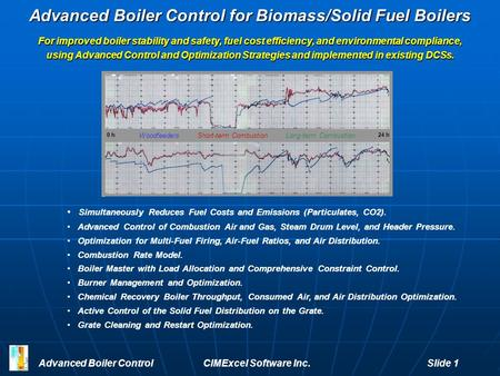 Advanced Boiler Control for Biomass/Solid Fuel Boilers