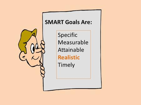 Specific Measurable Attainable Realistic Timely SMART Goals Are: