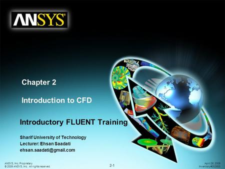 Chapter 2 Introduction to CFD