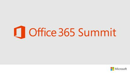 [Speaker] [Title] [Company] Identity management integration options for Office 365.