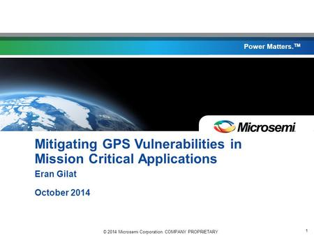 Mitigating GPS Vulnerabilities in Mission Critical Applications