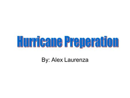 By: Alex Laurenza. Know What Hurricane WATCH and WARNING Mean WATCH: Hurricane conditions are possible in the specified area of the WATCH, usually within.