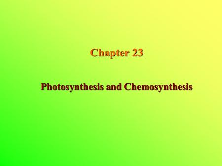 chemistry of chemosynthesis