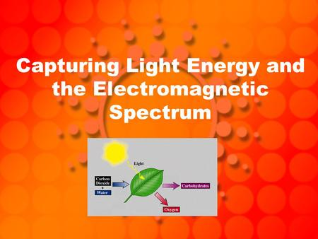 Capturing Light Energy and the Electromagnetic Spectrum.