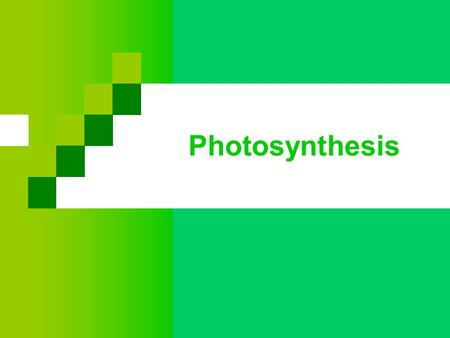 Photosynthesis. Plants capture light energy from the sun Energy is converted to chemical energy (sugars & organic molecule)