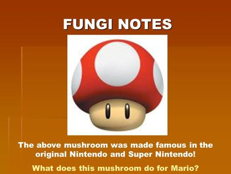 What does this mushroom do for Mario?