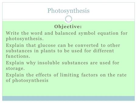 How would you write a worded equation to represent photosynthesis?? Please some one help... ?