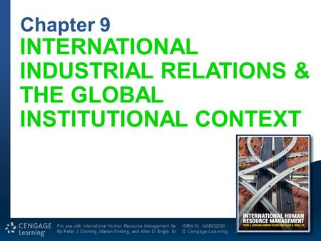 INTERNATIONAL INDUSTRIAL RELATIONS & THE GLOBAL INSTITUTIONAL CONTEXT
