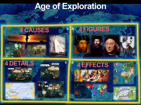 Age of Exploration 4 CAUSES 4 FIGURES 4 DETAILS 4 EFFECTS ab cd.
