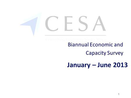 January – June 2013 Biannual Economic and Capacity Survey 1.
