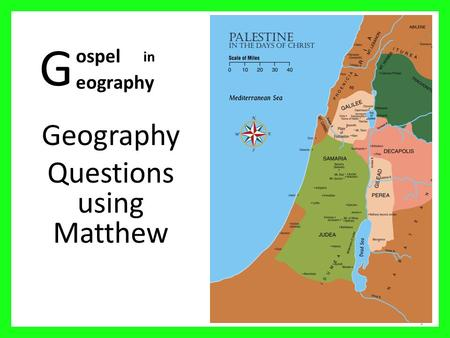 Geography Questions using Matthew