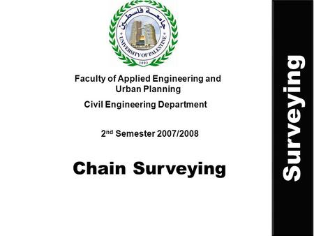 Surveying Chain Surveying
