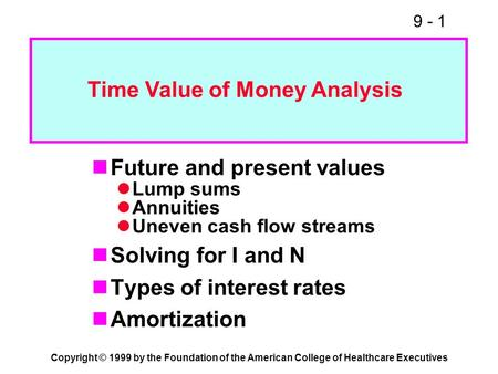 time value of money and present