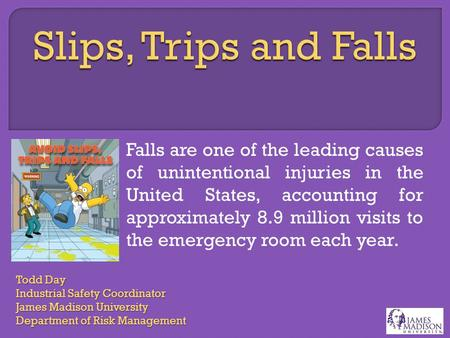 Falls are one of the leading causes of unintentional injuries in the United States, accounting for approximately 8.9 million visits to the emergency room.