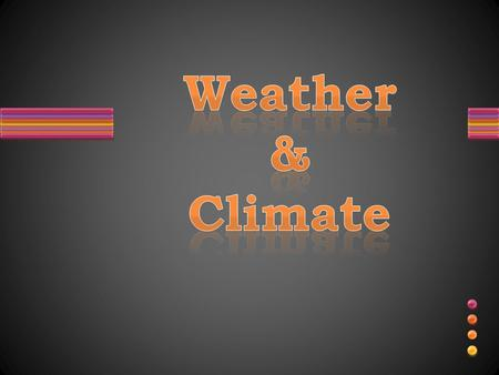 Weather & Climate.