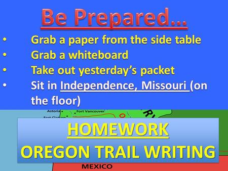 HOMEWORK OREGON TRAIL WRITING HOMEWORK. Disease For his skills – protection, hunting/fishing, tracking, etc. They go ahead and report back what to expect.
